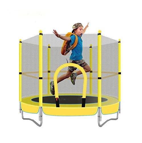 5 ft kindertrampoline met veiligheidsnet, veerkussen, ritssluiting, heavy-duty stalen frame, kleine trampoline voor binnen en buiten, maximale belasting 330 lbs