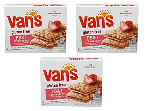 Van's PB&J Gluten Free Sandwich Bars 5 Ct (Pack of 3)