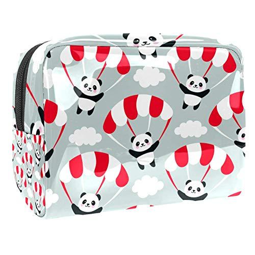 Maquillage Cosmetic Case Multifunction Travel Toiletry Storage Bag Organizer for Women - Cartoon Panda Parachute
