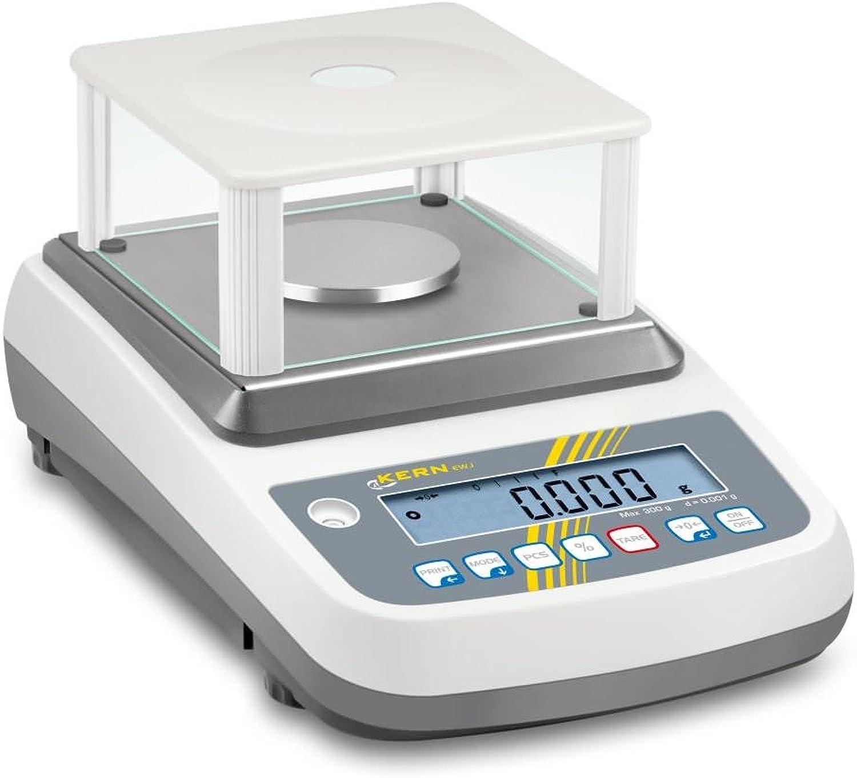 Präzisions-Waage von höchster Qualität mit interne Justier Automatische [Kern [Kern [Kern EWJ 3000 – 2] Balance – Platte Ø 80 mm, Reichweite [Max]  3000 g, Ablesbarkeit [D]  0,01 g Kapazität, reproduzierbarkeit  0,02 g, Linearit 79dc48
