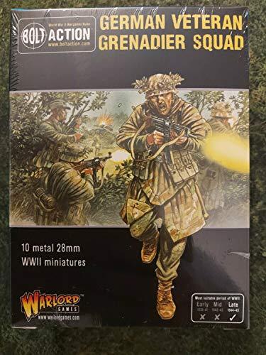 Bolt Action - Vétéran allemand Grenadier Squad - Late Seconde Guerre mondiale Infanterie -. Warlord Jeux