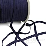 5 Yards of JETT Simple and Modern Lingerie Elastic, Navy Blue, Made in Italy