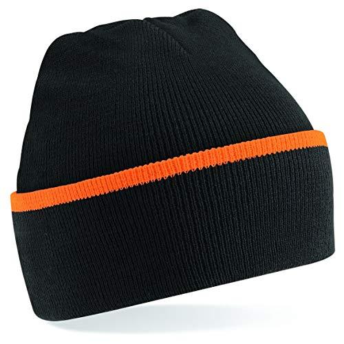 Beechfield - Teamwear beanie - Black/ Orange - One Size EU / UK