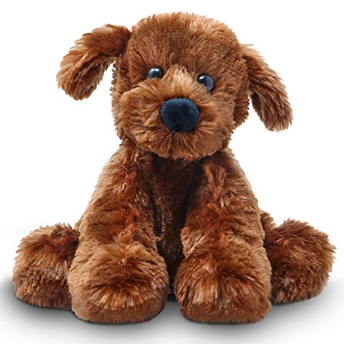 Fluffuns Puppy Dog Stuffed Animals - Stuffed Dog Plush Toys - 9 Inches (Brown)
