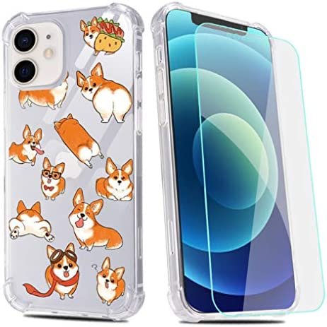 Funny Corgi Dog Phone Case for iPhone 6 iPhone 6s with Screen Protector Corgi Puppies Clear product image