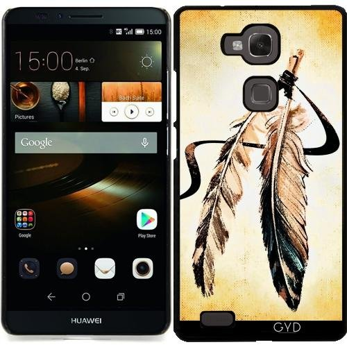DesignedByIndependentArtists Custodia per Huawei Ascend Mate 7 - Piume Bohemien Epoca by Petra