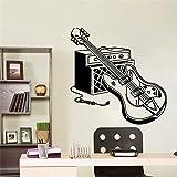 Coloridas pegatinas de pared de guitarra eléctrica decoración del hogar del bebé decoración del dormitorio de jardín de infantes decoración de la pared de la sala de estar impermeable-28x28cm