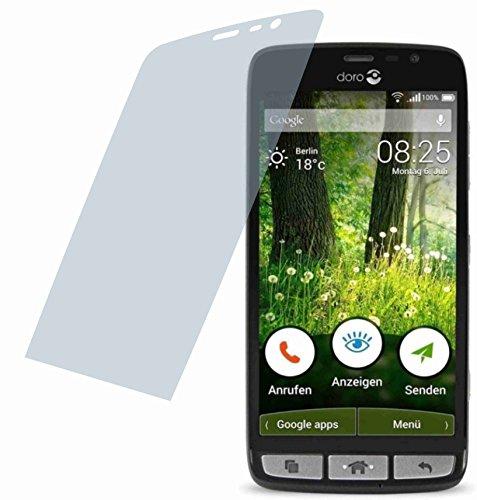 4ProTec I 2X Crystal Clear klar Schutzfolie für Doro Liberto 825 Premium Bildschirmschutzfolie Displayschutzfolie Schutzhülle Bildschirmschutz Bildschirmfolie Folie