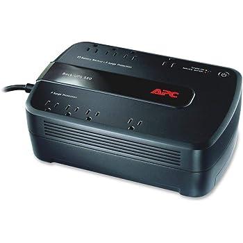 APC UPS, 650VA UPS Battery Backup Surge Protector, BE650G1 Backup Battery, Dataline Protection, Back-UPS Uninterruptible Power Supply
