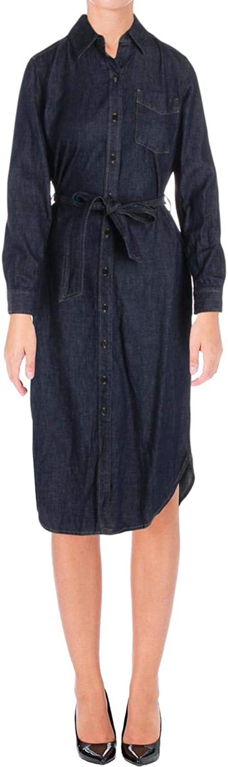 Lauren Ralph Lauren Womens Vonraja Denim MidCalf Shirtdress