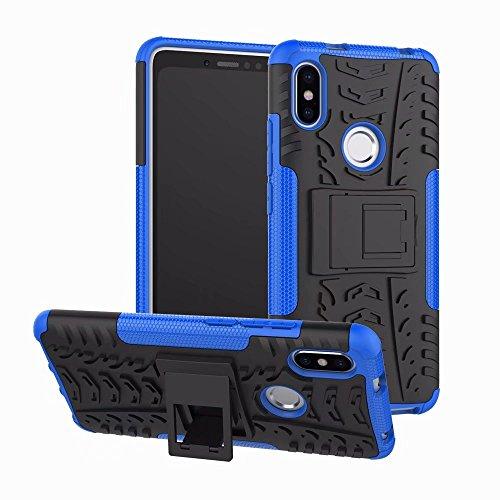 FaLiAng XiaoMi RedMi S2 Funda, 2in1 Armadura Combinación A Prueba de Choques Heavy Duty Escudo Cáscara Dura para XiaoMi RedMi S2 (Azul)