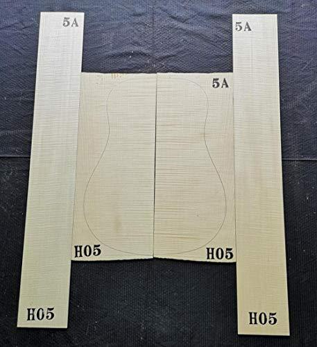 chushi 41 Pulgadas 5a Master Alemán Tiger Maple Maple Atrás Side Single Board Material De Guitarra Material De Fabricación De Guitarra Zzib (Color : 5A Tiger Pattern H05)