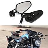 Rich Choices Universal Black Motorcycle 22mm 7/8'' CNC Handlebar Side Mirrors for Honda Kawasaki Yamaha Suziki