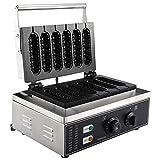YaeMarine 110V Electric Lolly Waffle Maker, Hot Dog Muffin Machine, Corn Dog Maker, 6 Grid & Non-Stick