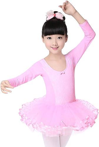Xiao Jian-Vêtements de Danse - Costumes de Danse pour Enfants Filles Fluffy Jupes Costumes de Visage en Dentelle Vêtements de Danse Vêtements d'exercice Uniforme de Danse