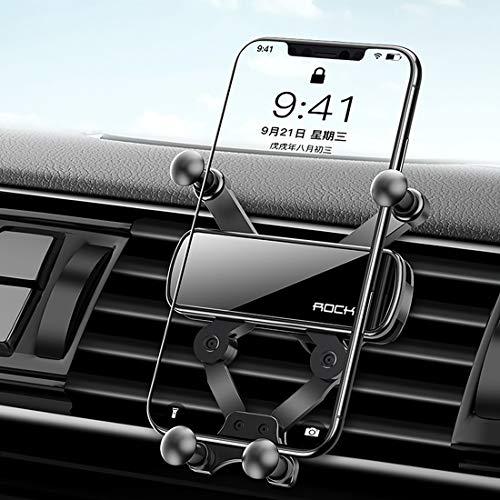 Handyhalterung Auto Air Outlet Gravity Handyhalterung Halterung versteckt Spiegel Version (schwarz) Handyhalterung Schwarz