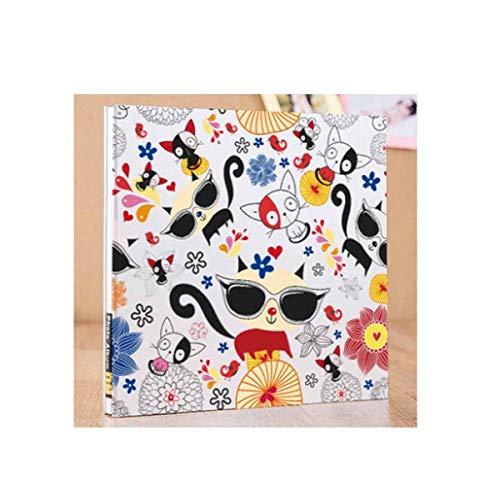 ZTMN fotoalbum, lamineerpasta traditioneel album, handgemaakte babygroei-cartoon-recordboek (biedt ruimte voor 300-400 foto's, witte kaart) (kleur: 1)