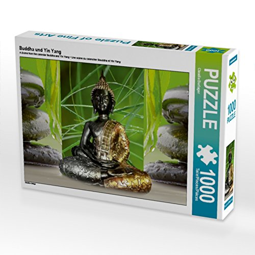 CALVENDO Puzzle Buddha und Yin Yang 1000 Teile Lege-Größe 64 x 48 cm Foto-Puzzle Bild von Digital-Art