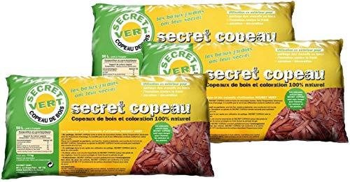 Secret Vert Paillis copeaux Rouges 11kg Lot de 3