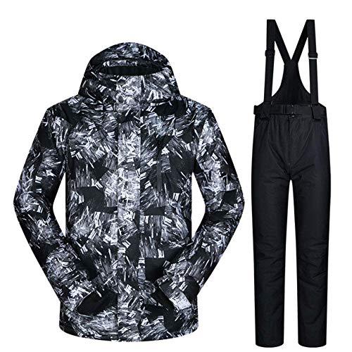 XYQY Herren Ski Anzug 2019 Neue Outdoor warm wasserdicht Winddichte atmungsaktive männliche Winter Snowboard Jacke und Hose Schnee Anzug Set Marken m HYH SCHWARZ