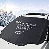 hengshiqi Surfing Girl Hawaii Car Windshield Cover Foldable Auto Sun Shade Blocks MAX UV Rays Fits Most Trucks Vans and SUVs