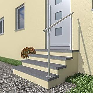 Handlauf Wandhandlauf Kugelring Geländer Treppe von 0,6M bis 1,5M