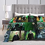EAROBA 3D Flannel Throw Blanket Draco-Malfoy Lightweight Soft Cozy Bed Blankets for Couch Sofa Chair Suitable for All Seasons for Adult Kids Girls 50'X40'