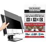 "23.6"" Akamai Computer Privacy Screen (16:9) - Black Security Shield - Desktop Monitor Protector - UV & Blue Light Filter (23.6 inch Diagonally Measured, Black)"