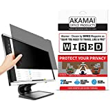23 inch Akamai Computer Privacy Screen (16:9) - Black Security Shield - Desktop Monitor Protector - UV & Blue Light Filter (23.0 inch Diagonally Measured, Black)