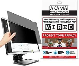 22 inch Akamai Computer Privacy Screen (16:10) - Black Security Shield - Desktop Monitor Protector - UV & Blue Light Filter (22.0 inch Diagonally Measured, Black)