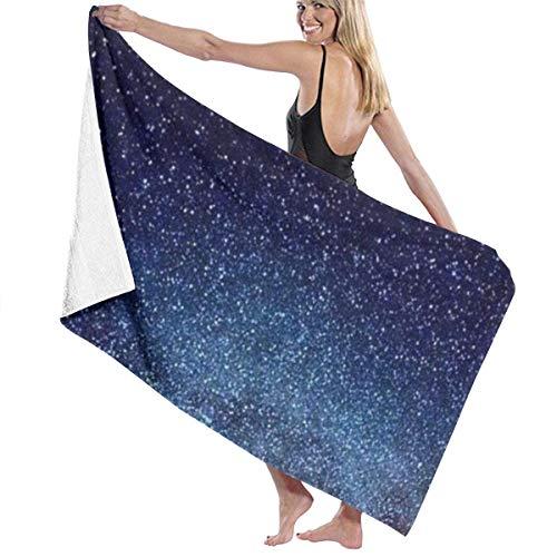 Ewtretr Toalla de Playa Bath Towels Starry Sky Microfiber Bath Towel Soft High Absorption Quick Drying Bathroom Travel Sports and More130cmx80cm