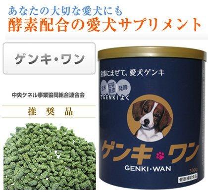 玄米・胚芽表皮・発酵 玄米酵素ゲンキ・ワン 300g 【愛犬サプリメント】