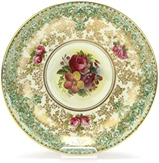 C51 by Royal Worcester, China Bouillon Saucer, Bouillon, Green