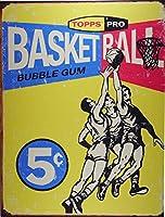 バスケットボール★TOPPS★レトロシリーズ★アメリカンブリキ看板[1405]