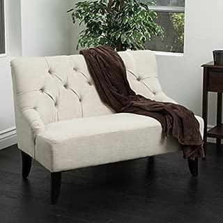 Christopher Knight Home 295262 Mariana Light Beige Fabric Settee