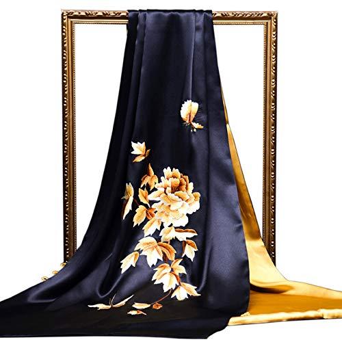 Moda Bufanda Chal Bufandas for las mujeres del patrón del bordado de flores Ligera mantón de la bufanda de seda de morera Moda Bufandas Chales protector solar exquisito regalo for la novia Bufanda aco