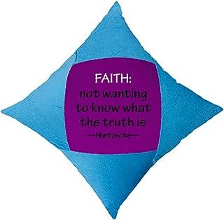 OFFbb-USA Faith Life Truth - Funda de almohada decorativa para cama de coche, color azul