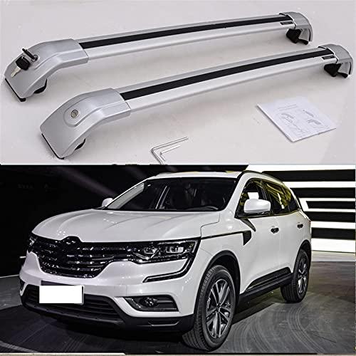 Barras Transversales Reemplazo Para Renault-Koleos 2016 2017 2018 2019 Personalizado Aleación De Aluminio Baca De Coche Portaequipajes Techo Con Cerradura Rieles Cruzados Ajustable