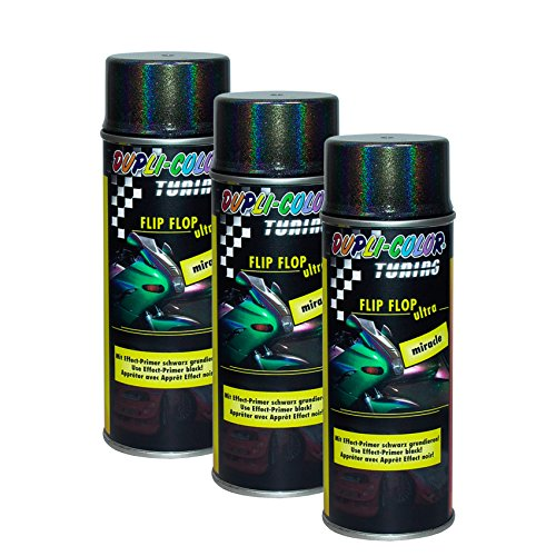 3X DUPLI-Color FLIP-Flop Ultra Miracle Effekt Glas Keramik Stein METALLE Lack 150 ML