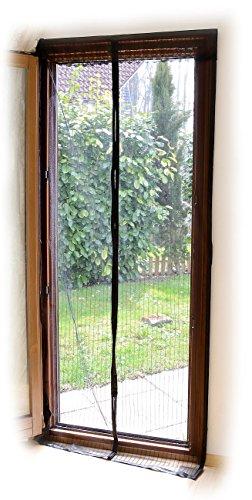 infactory Insektenvorhang: Selbstschließendes Fliegennetz für Türen, schwarz (Magnetvorhang Durchgehender Magnet)