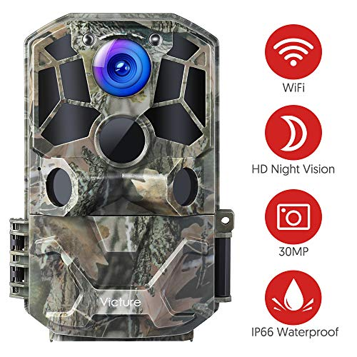 Victure WiFi Trail Game Camera 30MP 1296P with Night Vision...