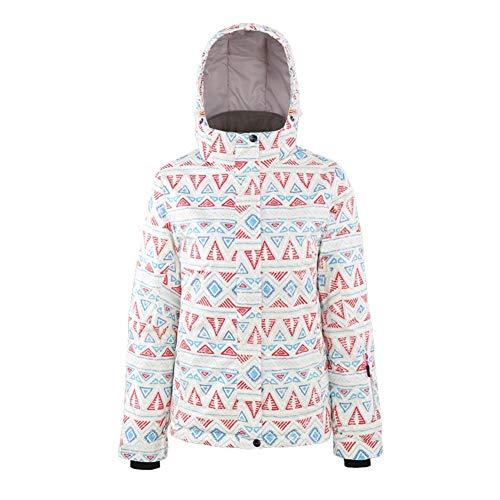 Mimioore Ski-jack voor dames, winter-sneeuwmantel, winddicht, waterdicht, warm, padded Veneer dubbele skateboarden jack plank overcoat buiten