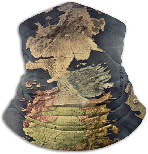 Neck Warmer Gaiter Westeros Map Wallpaper 1920X1080 Hoofdband Sjaal Sport Hoofddeksels Gezicht Bandana Multifunctionele Bandanas Mannen Vrouwen