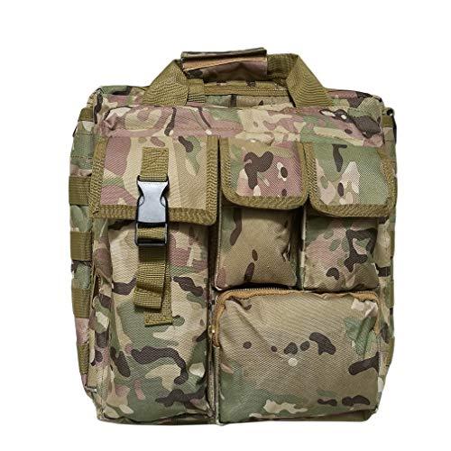 unknow Rlmobes - Bolso elegante con múltiples bolsillos y asa para el comprador, casual, trabajo, deporte, viajes, café, camuflaje