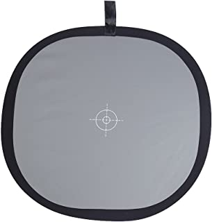 Andoer 24x24 inch Foldable Grey/White Balance 18% Grey Reference Reflector Grey Card with Carrying Bag