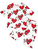 Unifriend 7分袖7分丈 キッズ 女児 綿100% オーガニック ルームウェア パジャマ ねまき 上下セット