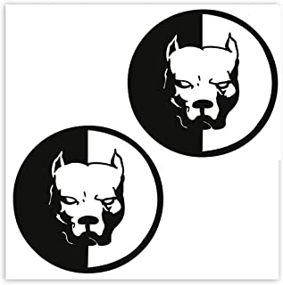SkinoEu® 2 x självhäftande klistermärken vinyldekal pitbull hund laptop iPad bilfönster auto motorcykel hjälm cykel skrids...