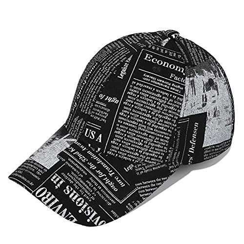 Cap Cap algodón béisbol de la Letra sólido Transpirable Periódico Sombrero Hombres / Mujeres Outdoor Running Casquillo del Carro del Sombrero AjustableCap papá