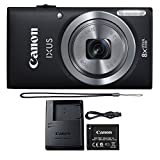 Canon IXUS 185 / ELPH 180 20.0MP 8X Optical Zoom Point and Shoot Digital Camera Black