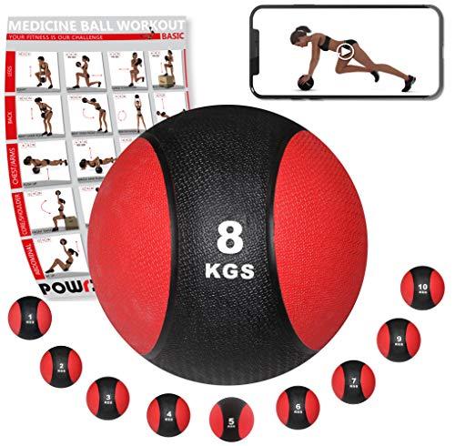 POWRX Balón Medicinal 1 kg + PDF Workout